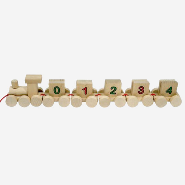 Dřevěný Vláček s čísly - MIKToys