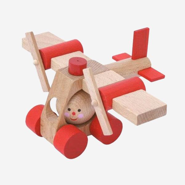 Dřevěná hračka Letadélko AERO - MIKToys