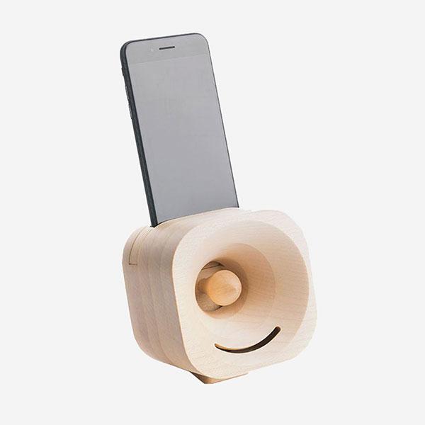 Akustický zesilovač - Dřevěný reproduktor Trobla - javorové dřevo - pro smartphone