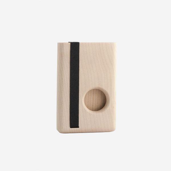 Dřevěné pouzdro na karty Round - javorové dřevo